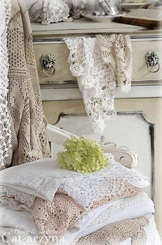 Beautiful lace and linen