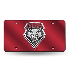 New Mexico Lobos NCAA Laser Cut License Plate Tag