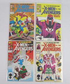 X-MEN VS THE AVENGERS MARVEL COMICS LIMITED 1987 FULL SERIES # 1-4