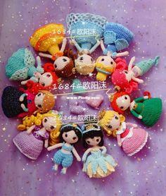 Crochet Disney, Kawaii Crochet, Diy Crochet, Crochet Baby, Crochet Dolls Free Patterns, Crochet Doll Pattern, Amigurumi Patterns, Crochet Princess, How To Start Knitting
