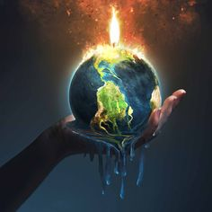 The climate change fuse is lit. We must act now, or we may not be able to prevent the worst health consequences of climate change. Earth On Fire, Earth Day, Planet Earth, What Is Climate, Climate Change, Save Earth Drawing, Earth Drawings, Earth Poster, Plakat Design