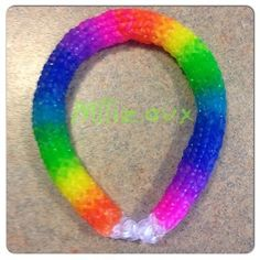 Rainbow Loom Hexafish 6 Pin Fishtail Bracelet Made with Clear Bands   eBay