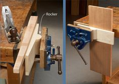 Shop-Made Rocker Jaw One simple board, cut into the shape of a seesaw, can make a huge improvement to your vise. It allows you to firmly hold tapered work and long, upright boards off to the side of the vise. For a tapered piece, such as the leg shown here, place the rocker in the middle of the vise. The rocker will automatically rotate to match the leg's taper as …