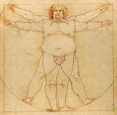 WOTN, Fat Vitruvian Man... digital illustration... 2011