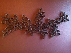 This I made in about two hours out of toilet paper rolls. Copied it off Pinterest! LOVE IT!