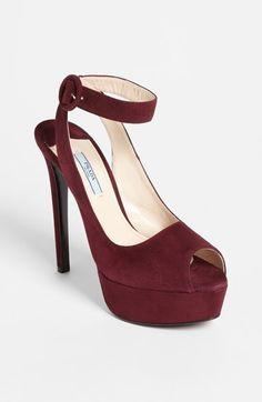 Free shipping and returns on Prada Ankle Strap Platform Sandal at Nordstrom.com.