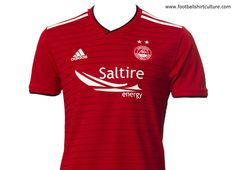 Aberdeen FC revealed the new home football shirt by Adidas. The new Adidas home kit, which has been inspired by the iconic strip worn from Aberdeen, Football Soccer, Football Shirts, Adidas, Kit, Scotland, Mens Tops, Soccer Shirts, Soccer Jerseys