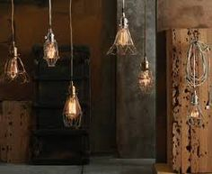 Image result for chic industrial lighting