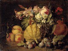 Brueghel Abraham (1631–1697) Натюрморт с цветами и фруктами (Still Life with Flowers and Fruit) 48 x 63.5_х.,м. Частное собрание Painters, Art, Art Background, Kunst, Performing Arts, Art Education Resources, Artworks