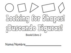 Free printable mini books for preK to learn math: Looking for shapes/ Buscando figuras