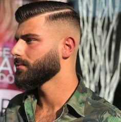 men s hairstyles and how to Girl Haircuts, Hairstyles Haircuts, Haircuts For Men, Beard Styles For Men, Hair And Beard Styles, Short Hair Styles, Moustaches, Classic Mens Haircut, Mens Beard Grooming