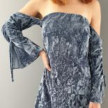 Blue crushed velvet dress from YDE - worn once Blue Crush, Save The Planet, Crushed Velvet, Selling Online, Second Hand Clothes, Off Shoulder Blouse, Stuff To Buy, Shopping, Tops