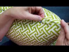 Hand Sew A Pillow Closed - An Easy Tutorial