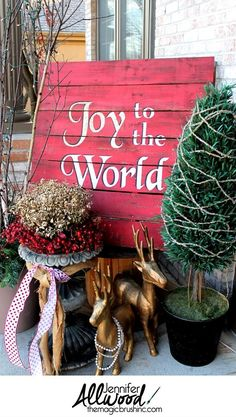 DIY--joy to the world christmas pallet, christmas decorations, pallet, repurposing upcycling, seasonal holiday decor Christmas Pallet Signs, Christmas Porch, Outdoor Christmas, All Things Christmas, Christmas Holidays, Christmas Decorations, Christmas Staircase, Xmas, Christmas Island