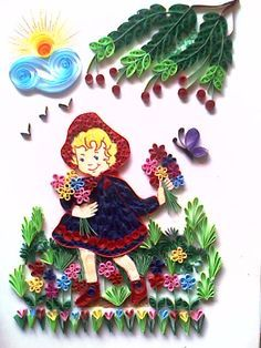 Little Girl ~ Quilling