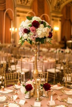 roses tall wedding centerpiece #weddingcenterpieces #wedding #weddingflowers #weddingdecor http://www.deerpearlflowers.com/tall-wedding-centerpieces/