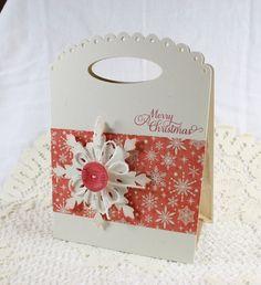 Handmade Gift Bag Merry Christmas w/ by EndlessInkHandmade