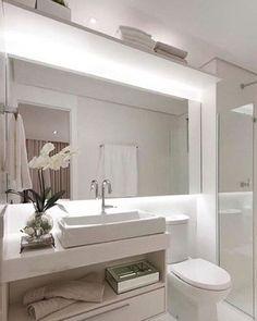 Bwc todo branquinho, iluminação pontual, super clean!!⚪️☑️ #designdeinteriores #iluminação #interiores #bwc #revestimentos #ambientes #clean #decor #detalhes #decoração #design #iluminaçãoindireta