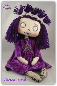 Steampunk Dolls, Gothic Dolls, Fabric Dolls, Rag Dolls, Worry Dolls, Wiccan Crafts, Monster Dolls, Voodoo Dolls, Creepy Dolls