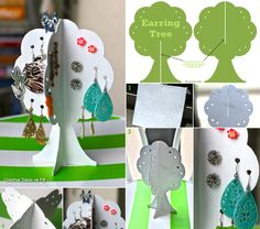 Earring storage tree