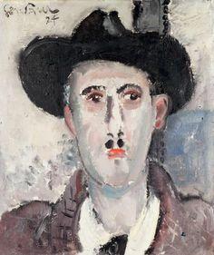 Painting by Gen-Paul (1895-1975), 1927, Le médecin (The doctor), Oil on canvas. (expressionnisme de tradition française)