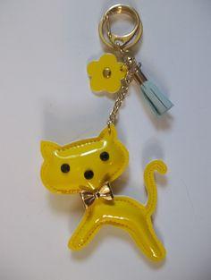 Large Canary Yellow Kitty Cat (Purse) Key Chain 5.99 FREE SHIP