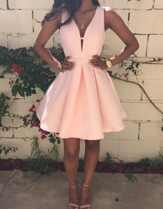 Simple Prom Dresses, new arrival pink homecoming dress satin short prom dress , From petite prom dress styles to plus size prom dresses, short dress to long dresses and more,all of the 2020 prom dresses styles you could possibly want! Dresses Short, Short Mini Dress, Dresses For Teens, Trendy Dresses, Dresses Dresses, Elegant Dresses, Dress Outfits, Light Pink Dress Short, Short Prom Dresses