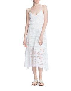 Tracy Reese Lace Slip Dress Women's White Medium