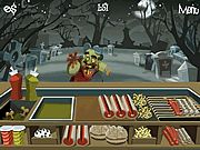 Do you know that even zombies the undead would like to savor quick snacks? Thus Zombie Burger has been opened with the aim of serving such customers with the best food. Now become the manager of this stall and try to make it rich and prosperous players! Here we go! Firstly when a zombie customer arrives lets follow steps here to prepare his order.