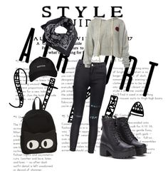 """Airpot style"" by kiorely ❤ liked on Polyvore featuring Sans Souci and MANGO"