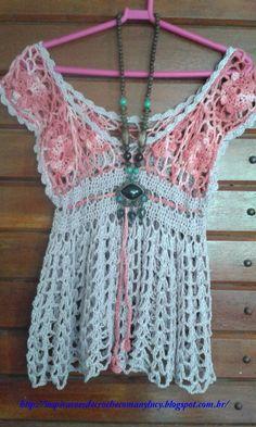 Inspirações de Croche com Any Lucy: Bata: Minha Autoria