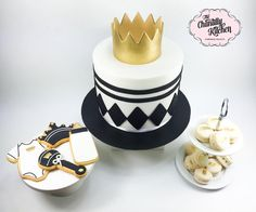 Black, white and gold baby shower: The Chantilly Kitchen, facebook