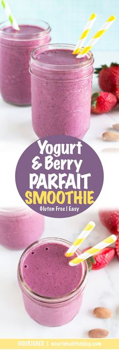 Yogurt Berry Parfait Smoothie | recipe | Easy to make Yogurt Berry Parfait Smoothie |
