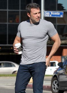 Ben Affleck's shirt seriously underestimated what it signed up for. Ha!