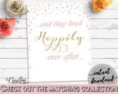 Happily Ever After Bridal Shower Happily Ever After Pink And Gold Bridal Shower Happily Ever After Bridal Shower Pink And Gold Happily XZCNH - Digital Product bridal shower wedding bride to be bridesmaids