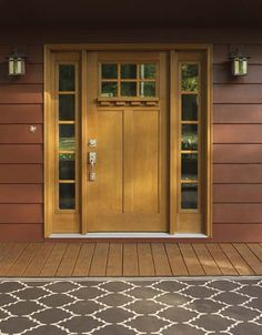 Fresh Craftsman Entry Door with Dentil Shelf