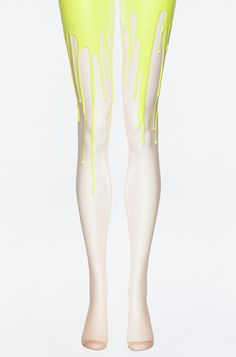 Neon Yellow Melting Tights | URB Hayley Williams from Paramore wore these in the Still Into You music video