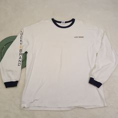 Mens Lucky Brand Long Sleeve Tee T-Shirt Size HIM XL #368   Clothing, Shoes & Accessories, Men's Clothing, Casual Shirts   eBay!