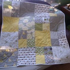 """13 Likes, 1 Comments - @mymble5 on Instagram: """"Finished! Faux Bois from Les Amis for binding #babyquilt #quilt #quilting #bluebirdpark"""""""