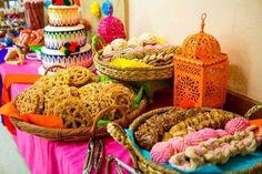 Vibrant dessert table