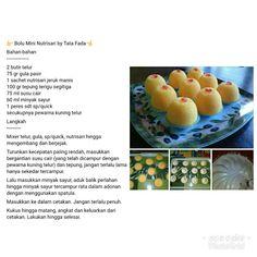 Bolu mini nutrisari Cheese Cookies, Cantaloupe, Projects To Try, Banana, Fruit, Cooking, Mini, Cake, Recipes