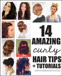 14 Amazing Curly Hair Tips + Tutorials from www.thirtyhandmadedays.com