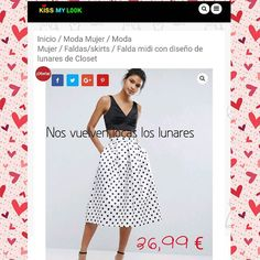 """Falda lunares"" #enlaweb www.kissmylook.com #meencanta #buenprecio #notelopuedesperder #summer #grupoinstagram #bloggers #models #instagramers #kissmylook #tw feliz día kissess  LINK IN BIO"