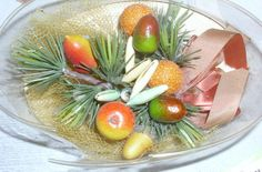 Vintage Christmas Corsage Fruit Ornaments Box | eBay