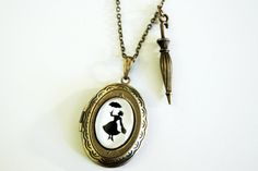 Silhouette+Locket+++Mary+Poppins+by+karamboola+on+Etsy,+$22.90