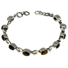 Handmade Jewelry Oriental Bracelet Indian Tiger'S Eye Silver: ShalinCraft: Amazon.co.uk: Jewellery