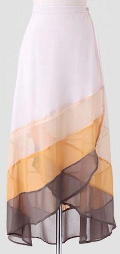 pretty long colorblock skirt http://rstyle.me/n/gauzir9te