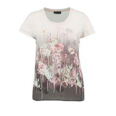 Taifun Spotty Floral Print Top Pink