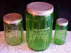 Vintage Sneath Zipper Canister Jars.