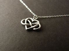Infinity Love Infinity Heart Necklace Infinite Love by NKDNA